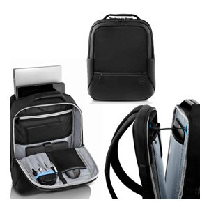 Dell Premier Backpack Black with Blue Accent