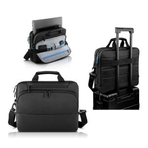 Dell Pro Briefcase Black, Blue Accents